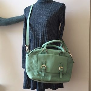 Boden hand bag made of genuine leather, mint green